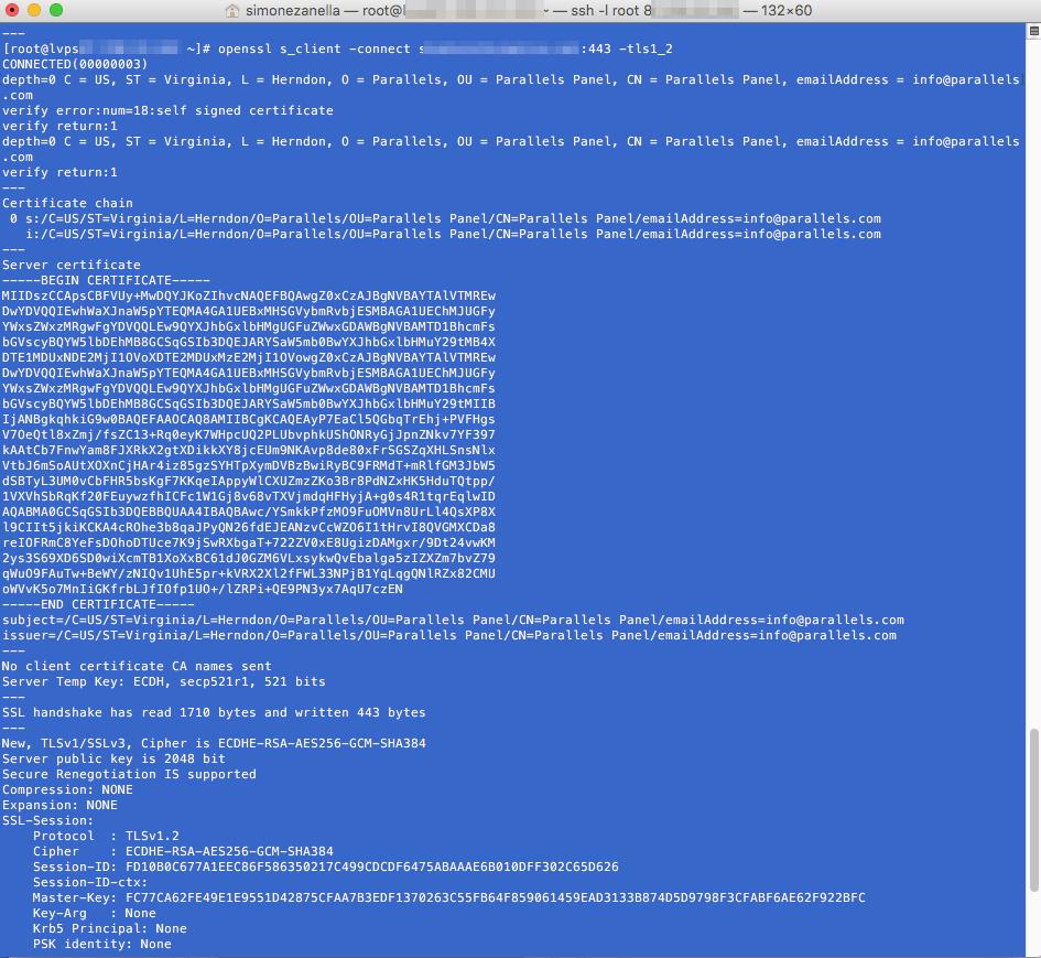 test tls 1.2 paypal terminale ssh