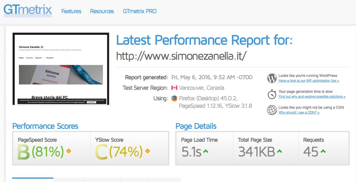 Velocizzare il proprio server per WordPress - Simone Zanella